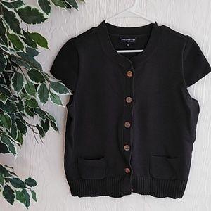 Jones New York dark brown short sleeve sweater